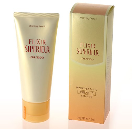 sua rua mat shiseido elixir superieur cleansing foam