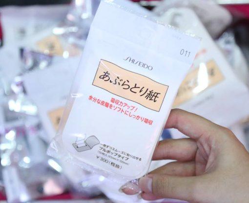 giay tham dau shiseido 150 mieng