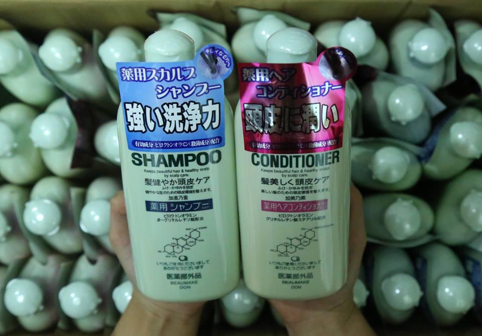 KAMINOMOTO MEDICATED SHAMPOO B&P - DẦU GỘI KÍCH THÍCH MỌC TÓC Và AMINOMOTO MEDICATED HAIR CONDITIONER B&P- DẦU XẢ TRỊ RỤNG TÓC