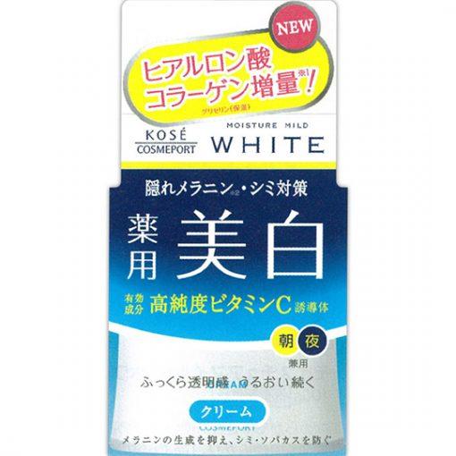kem duong trang da kose moisture mild white 50g