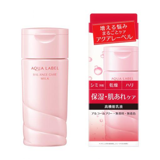 aqualabel shiseido balance care milk