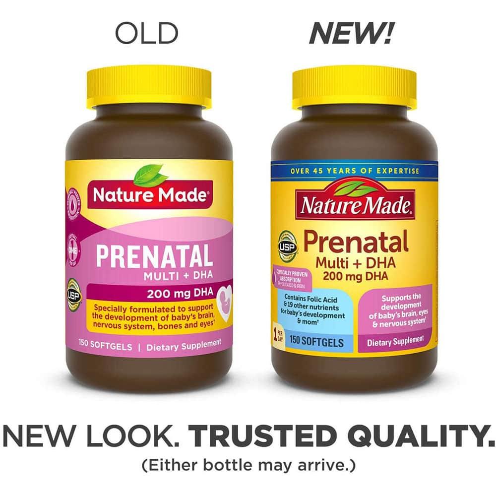 vien uong bo sung dha vitamin dha nature made prenatal muti my cho ba bau 1