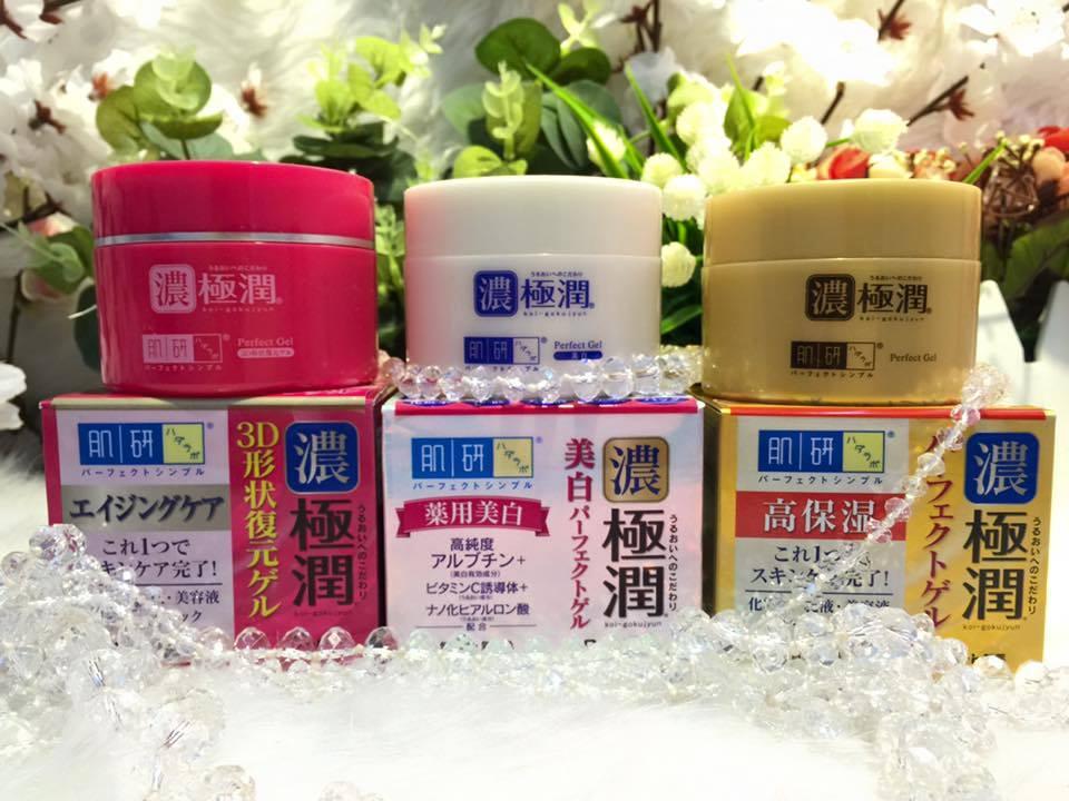 Kem dưỡng da Hada Labo Koi-Gokujyun 5 in 1 Whitening/ 3D/Moisturizing Perfect Gel 100g