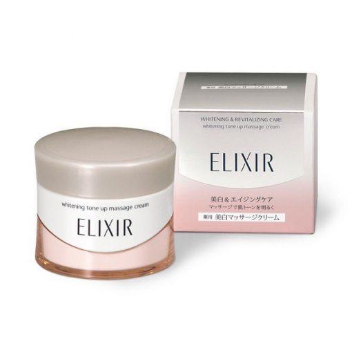 shiseido elixir whitening revitalizing care whitening tone up massage cream mau moi