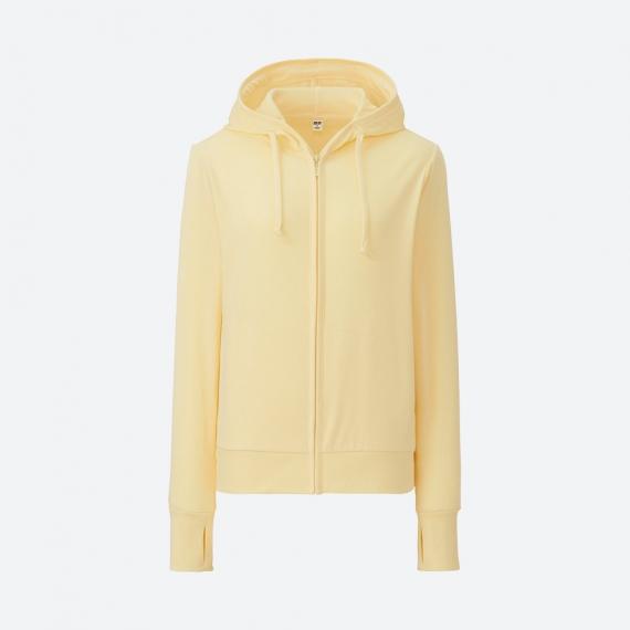 Áo chống nắng Uniqlo 2017 chất cotton màu vàng 40 Yellow