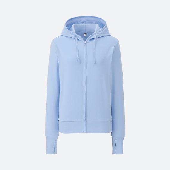 Áo chống nắng Uniqlo 2017 chất cotton màu xanh da trời 61 Blue