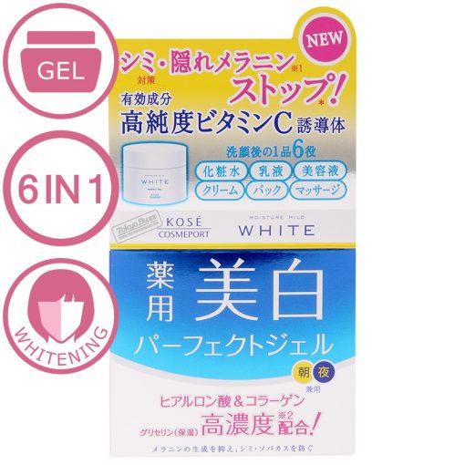 kem kose moisture mild white perfect gel 6 in 1 100g