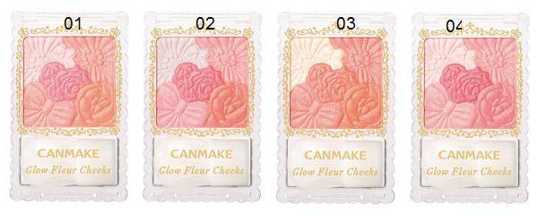 Bảng màu Phấn má hồng Canmake Glow Fleur Cheeks