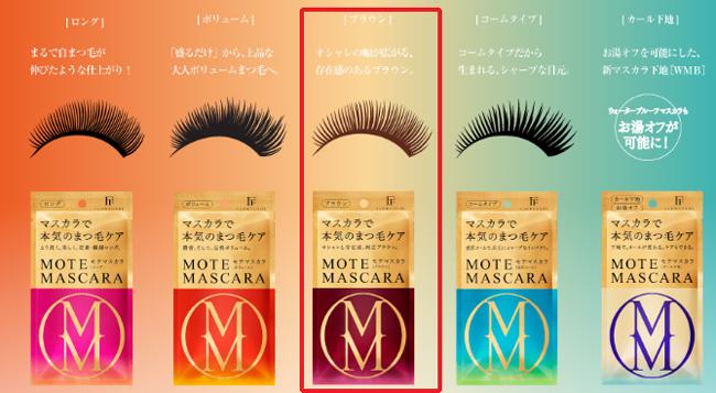 Mote Mascara Flow Fushi Nhật Bản