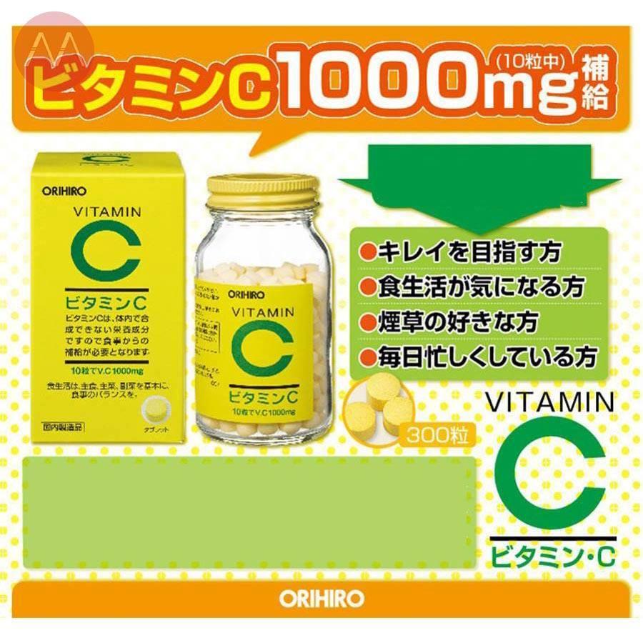 Công dụng tuyệt vời từ vitamin C Orihiro 1000mg Nhật Bản