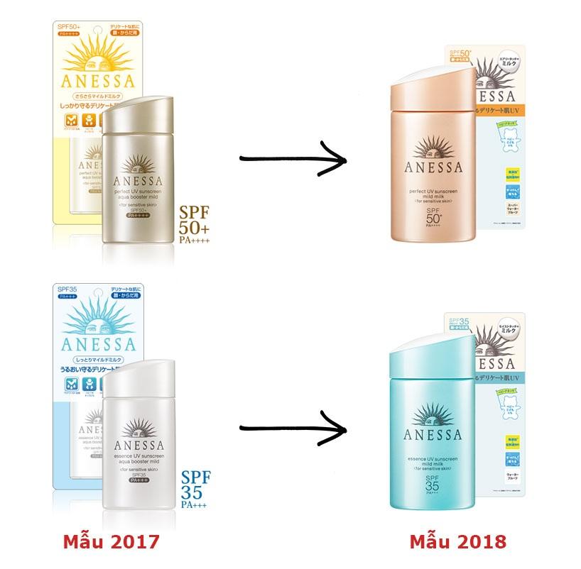 kem chong nang shiseido anessa mild milk mau moi 2018