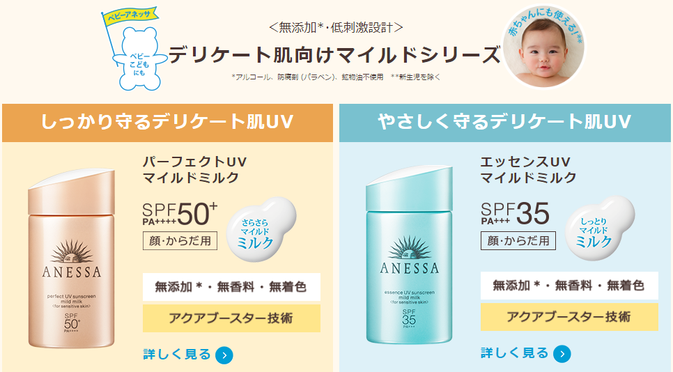 kem chong nang shiseido anessa perfect uv sunscreen mild milk