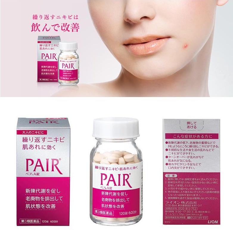 Viên uống thuốc trị mụn Pair 120 viên TOP 1 Nhật Bản nội địa chính ...
