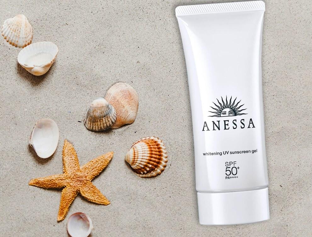 kem chong nang anessa shiseido whitening uv sunscreen gel