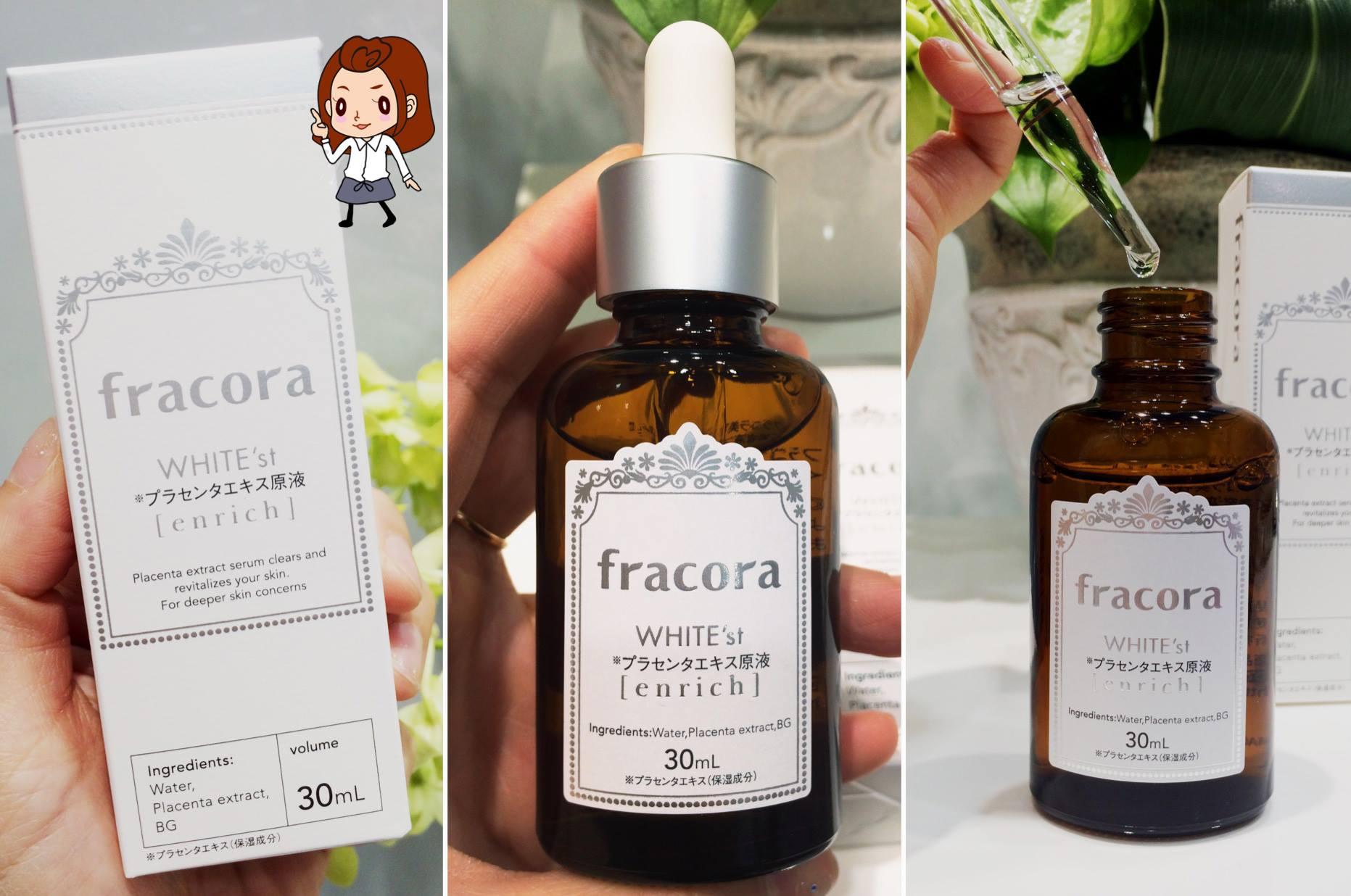 serum nhau thai fracora whitest placenta extract enrich japan