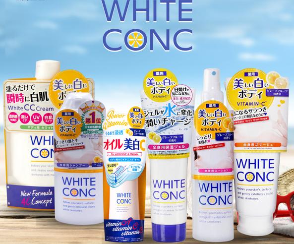 white conc trang da