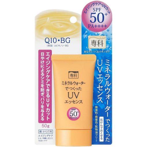 kem chong nang shiseido hada senka mineral water uv essence