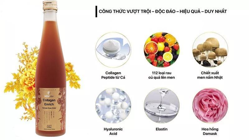 nuoc uong dep da thom co the hebora collagen enrich