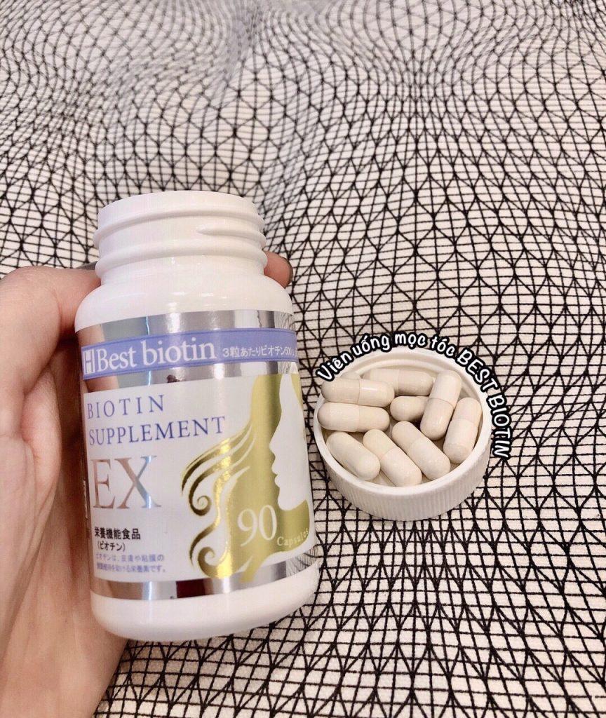 vien uong kich thich moc toc best biotin supplement ex nhat ban