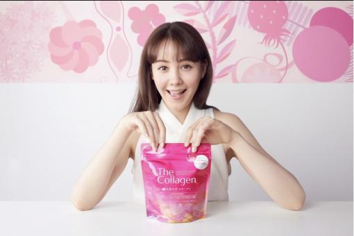 the collagen shiseido dang bot mau moi mau tim