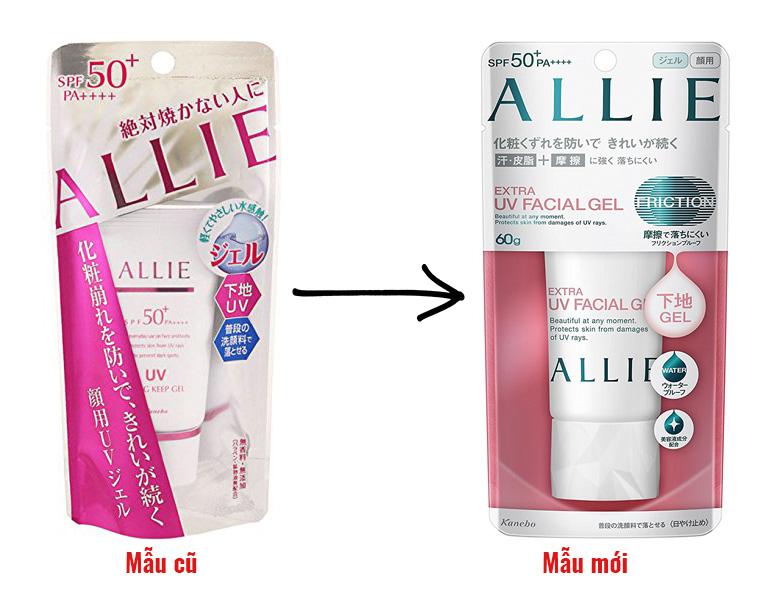 kem chong nang kanebo allie extra uv facial gel 2020 new