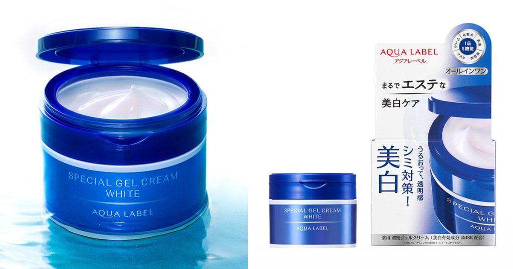 shiseido aqualabel special gel white cream