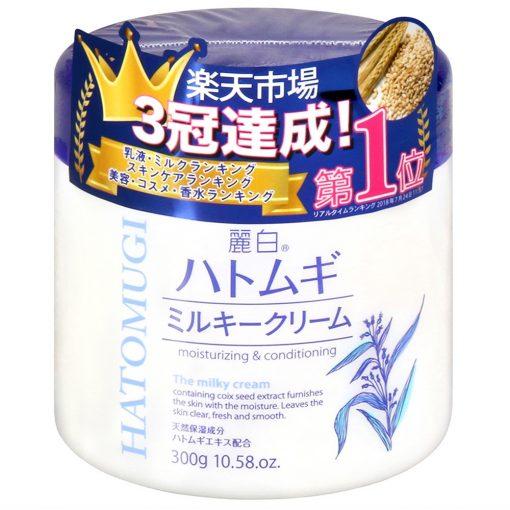 hatomugi moisturizing conditioning the milky cream 300g japan