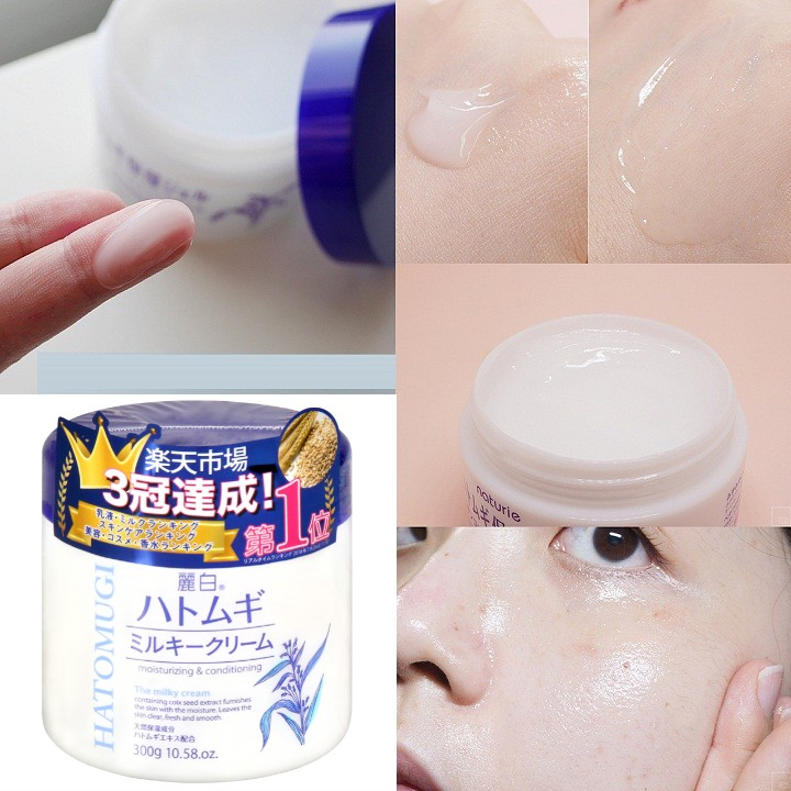 kem duong da hatomugi moisturizing conditioning the milky cream