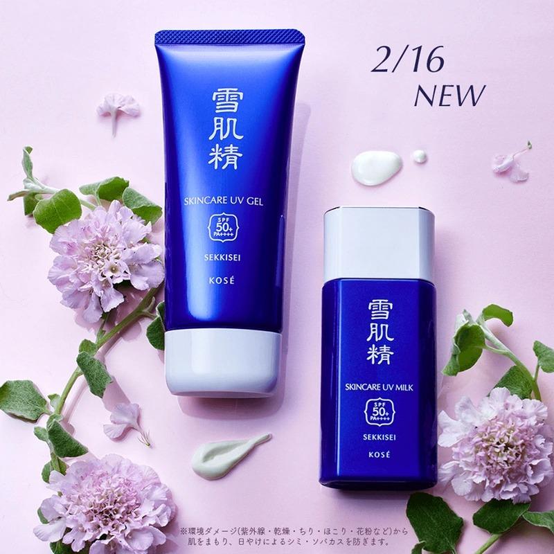 Kem chong nang sekkisei skincare uv milk gel new