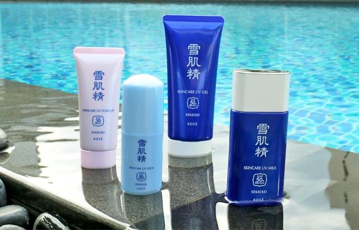 Kose SEKKISEI Sunscreens milk gel review