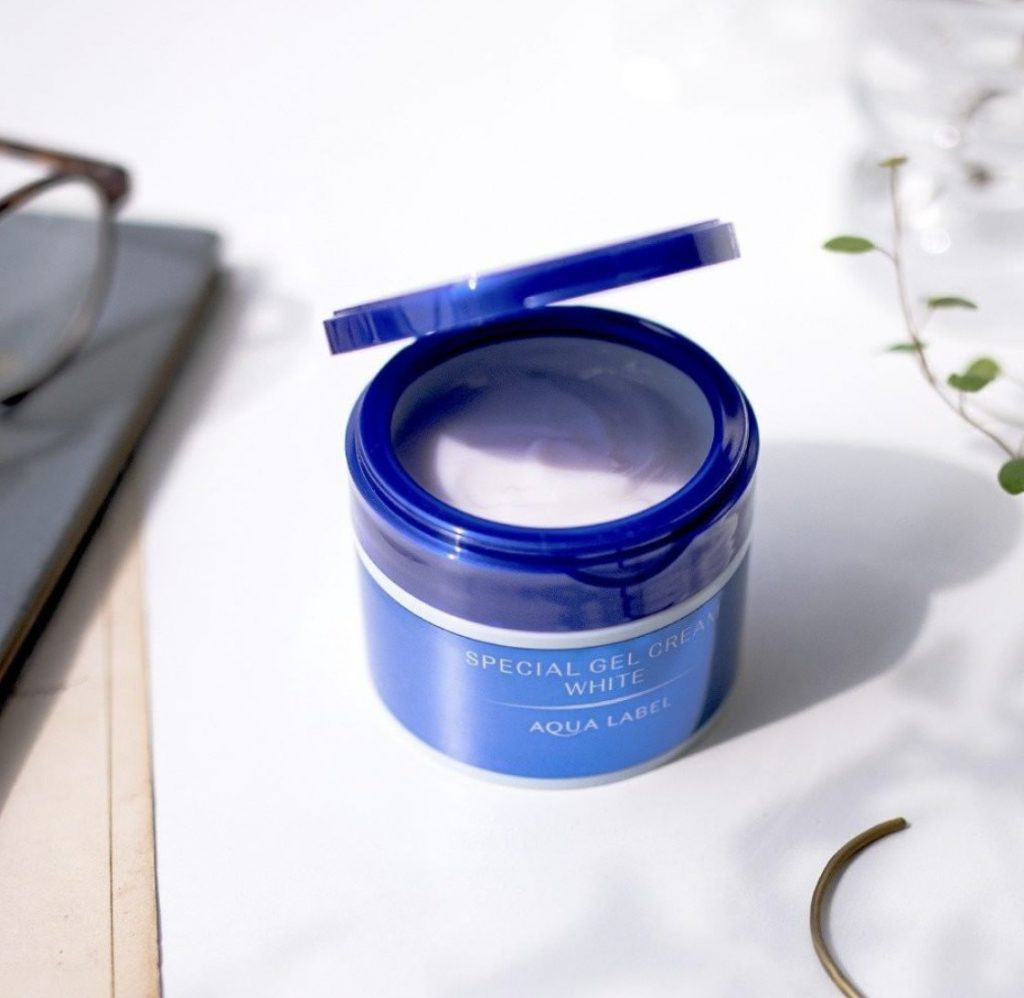 kem duong da shiseido aqualabel all in one xanh trang da
