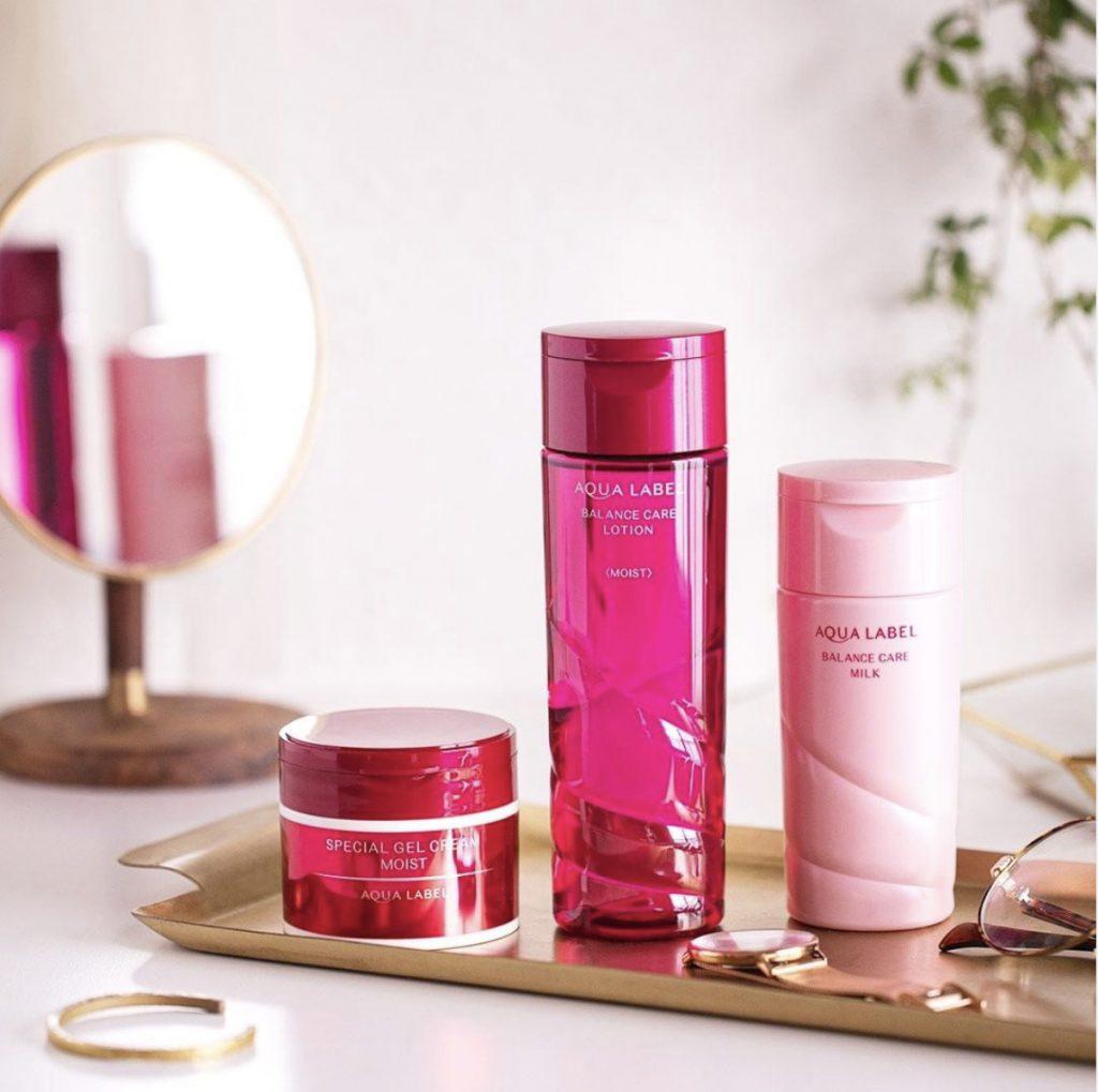 lotion aqualabel shiseido mau do mau moi