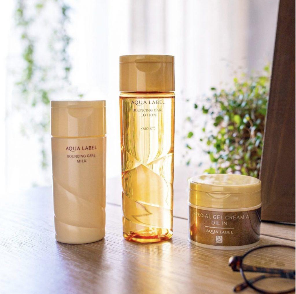 lotion aqualabel shiseido mau vang mau moi