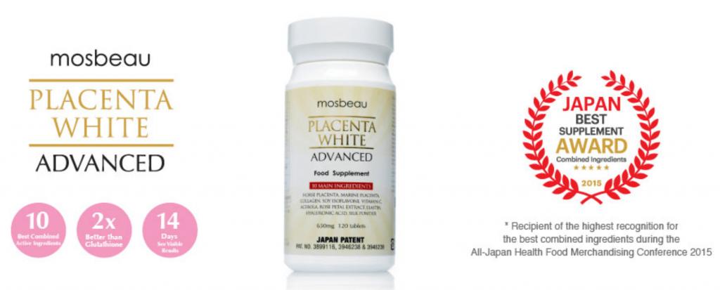 tri nam mosbeau placenta white advanced thanh phan