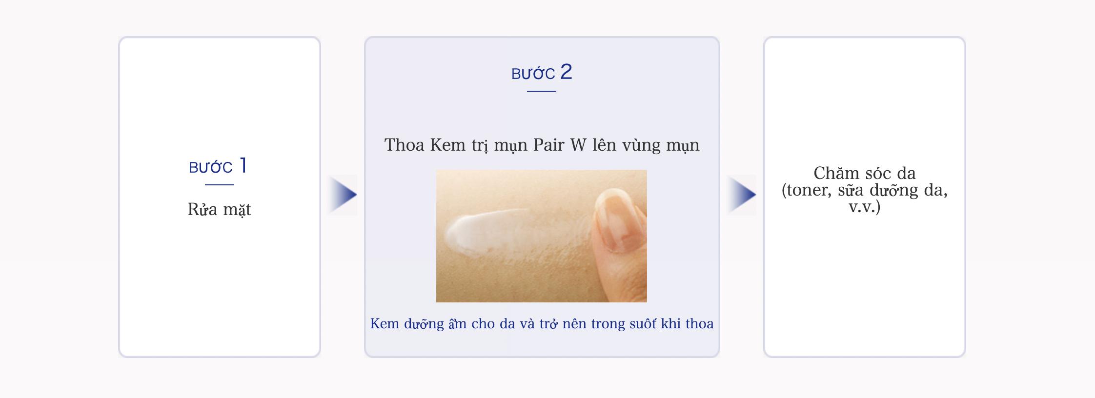 kem tri mun pair acne w cream 24g nhat ban