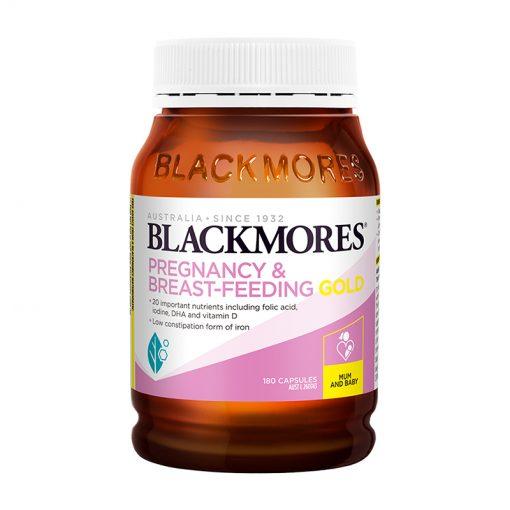 vitamin tong hop cho ba bau blackmores pregnancy and breast feeding gold