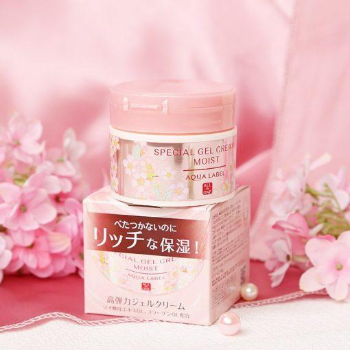 kem duong da hoa anh dao all in one aqualabel shiseido special 90g