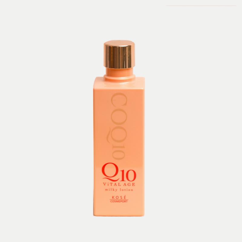 sua duong chong lao hoa kose q10 vital age milky lotion