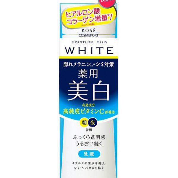 sua-duong-trang-da-kose-moisture-mild-white-milky-lotion