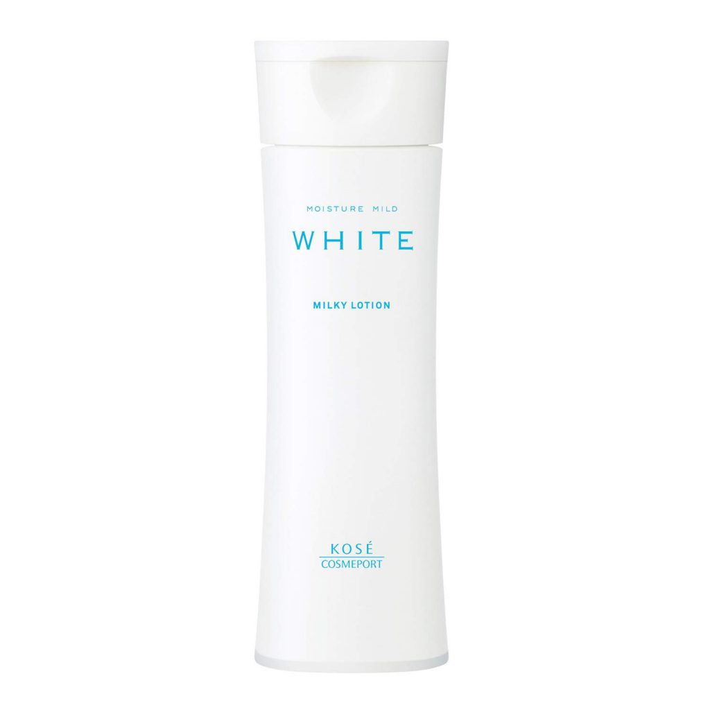 sua duong trang da kose moisture mild white milky lotion japan