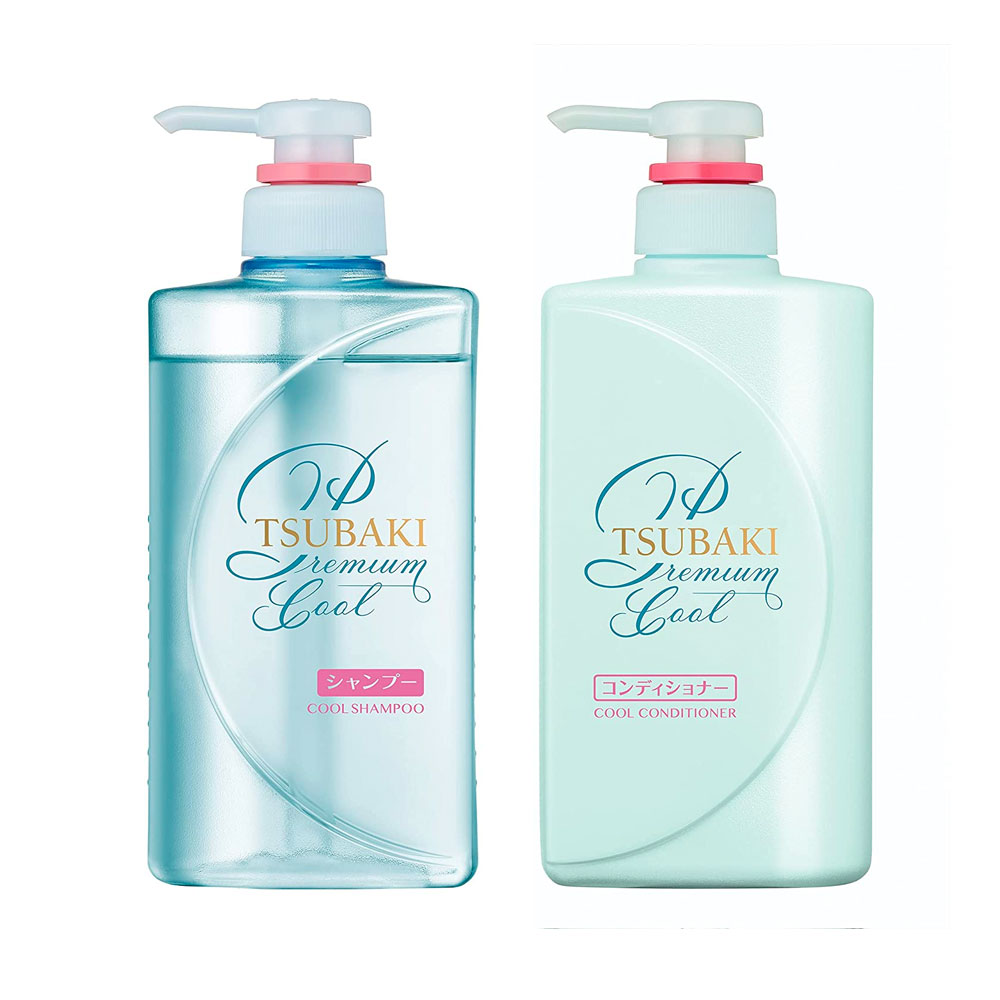 SHISEIDO Tsubaki Premium Cool Shampoo and Conditioner Pair Set