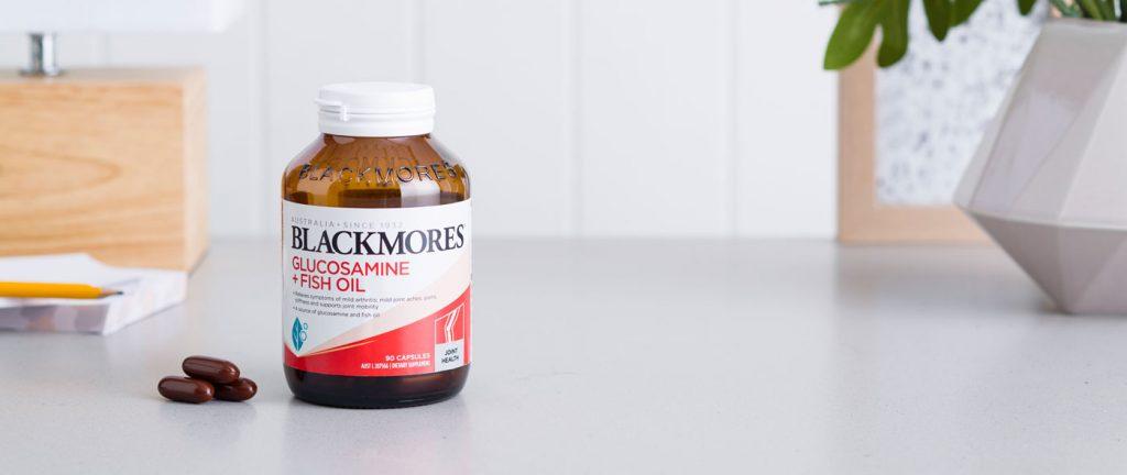 bo xuong khop blackmores glucosamine fish oil