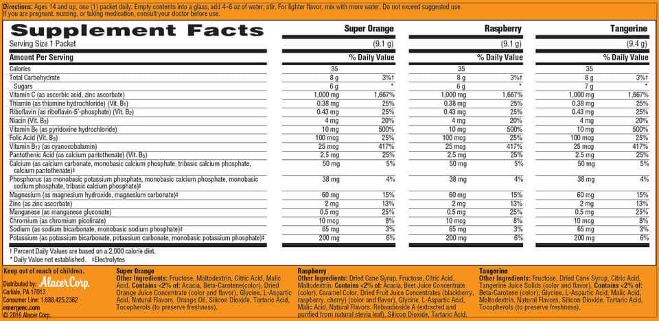 bot bo sung vitamin c tang cuong suc de khang emergen c 90 goi supplement facts