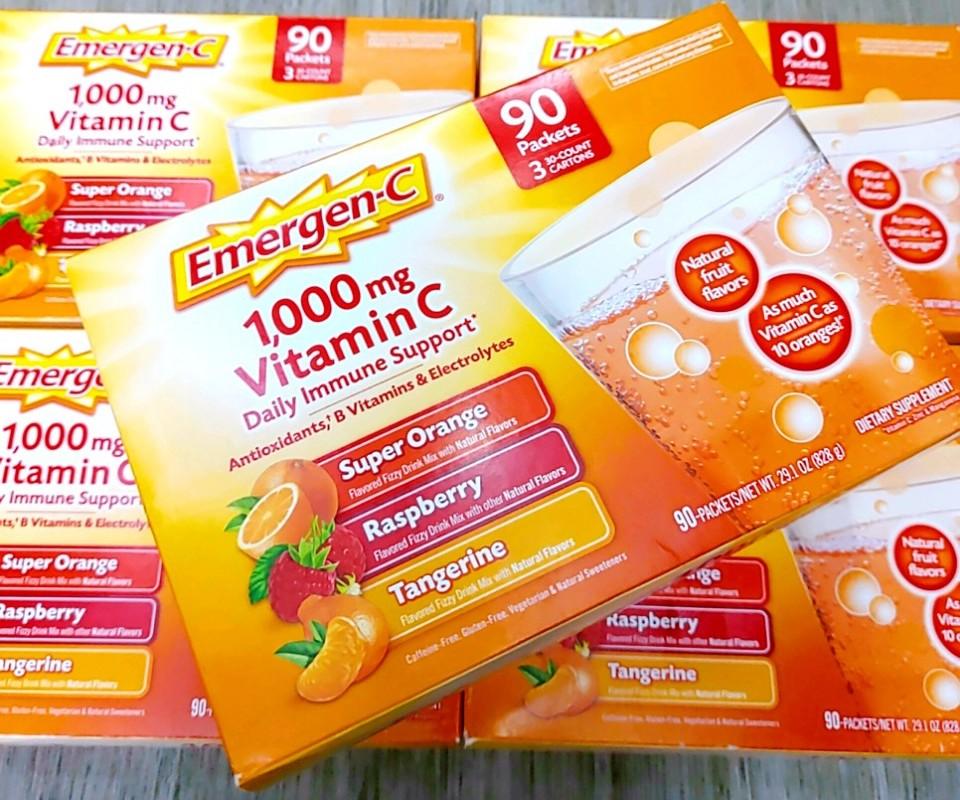 bot sui bo sung emergen c 1000mg vitamin c