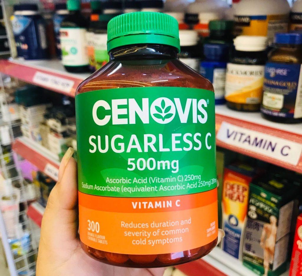 cenovis sugarless c 500mg cua uc