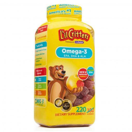 keo gau lil critters omega 3 dha ala gummy fish