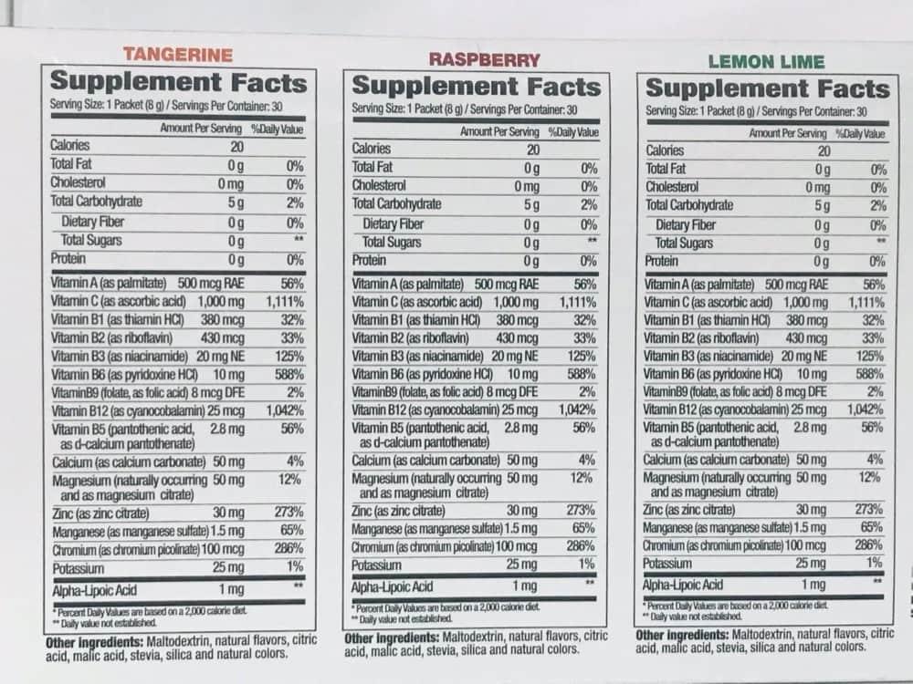 thanh phan bot sui resistance c vitamin c 1000mg plus electrolytes