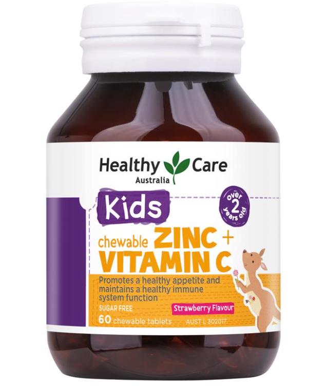 vien uong bo sung kem healthy care kids zinc vitamin c