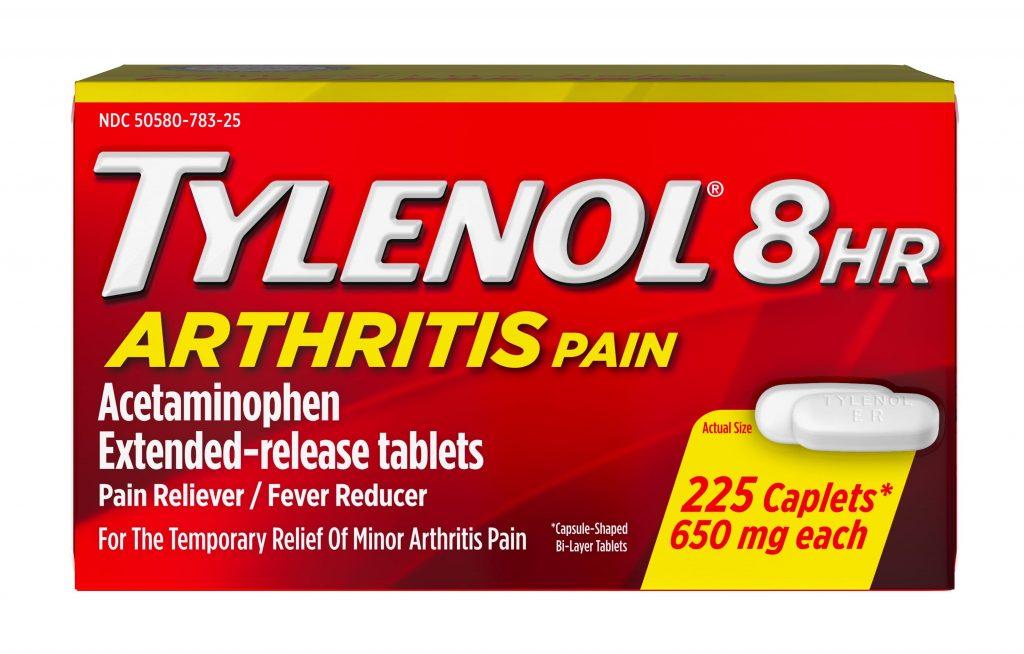 vien uong giam dau ha sot tylenol 8hr arthritis pain 650mg 225caplets