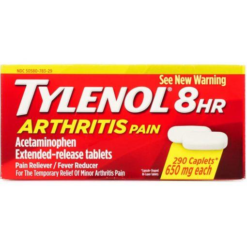 vien uong giam dau ha sot tylenol 8hr arthritis pain 650mg